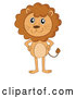 Vector of a Smiling Cartoon Lion Standing with Hands on Hips by Graphics RF