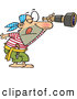Vector of a Watchful Cartoon Pirate Looking Through a Spyglass Telescope by Toonaday