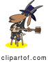 Vector of an Intelligent Cartoon Blues Music Goat Musician Playing a Guitar by Toonaday