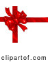 Vector of Birthday, Anniversary, Valentine's Day or Christmas Present Wrapped with a Red Ribbon and Bow over White by Tonis Pan