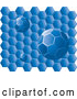 Vector of Blue Honeycomb with Circle Comb Balls by Rasmussen Images