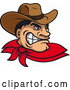 Vector of Cartoon Angry Wild West Cowboy by Vector Tradition SM
