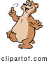 Vector of Cartoon Happy Bear Dancing by Johnny Sajem