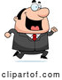 Vector of Cartoon Happy Plump Business Man Running by Cory Thoman