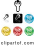 Vector of Collection of Different Colored Spanner Icon Buttons by AtStockIllustration