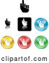 Vector of Different Colored Pointing Hand Icons by AtStockIllustration
