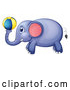 Vector of Elephant Playing with a Ball by Graphics RF