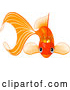 Vector of Goldfish Wearing a Golden Crown by Pushkin