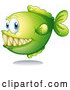 Vector of Green Carnivorous Fish by Graphics RF