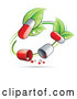 Vector of Green Circle Vine with Pill Capsules by Beboy