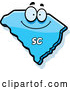 Vector of Happy Cartoon Blue South Carolina State Character by Cory Thoman