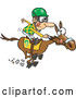 Vector of Jockey Guy Racing a Horse by Toonaday