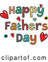 Vector of Patterned Sketched Happy Fathers Day Text with Hearts and Spirals by Prawny