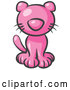 Vector of Pink Kitty Cat Looking Curiously at the Viewer by Leo Blanchette