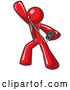 Vector of Red Guy Dancing and Listening to Music with an MP3 Player by Leo Blanchette