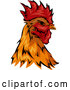 Vector of Rooster Head Mascot by BNP Design Studio