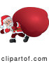 Vector of Santa Carrying Huge Gift Sack by Visekart
