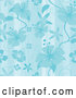 Vector of Seamless Blue Hibiscus Pattern Background by Amanda Kate