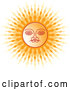 Vector of Sinhalese New Year Sun by Lal Perera