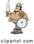 Vector of Viking Guy Holding a Sword and Shield by Djart